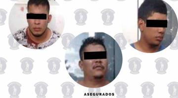 Detienen a tres sujetos señalados como responsables de narcomenudeo en Villahermosa