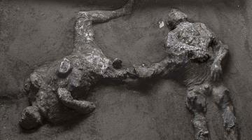 Descubren los cuerpos de dos hombres que escapaban de la erupción del Monte Vesubio