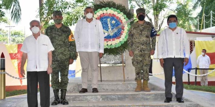 Conmemoran en Frontera día de la Armada de México