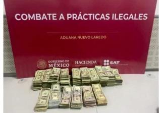 Detienen a hombre que pretendió ingresar 103 mil dls y cajas de jabón al país, en Tamaulipas