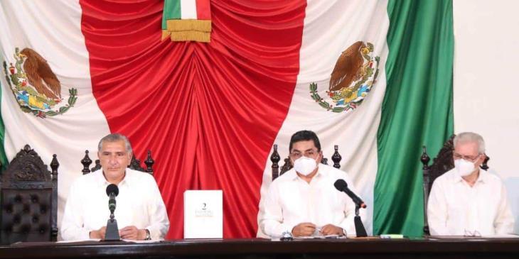 El 30 de noviembre acudirá Adán Augusto al Congreso para su mensaje del Segundo Informe