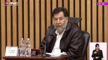 Abandona consejo general del INE la sala de sesiones ante la negativa de Fernández Noroña de usar cubrebocas