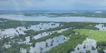 Reportan descenso del río Usumacinta, aunque permanecerá por arriba de su nivel crítico durante los siguientes 10 a 15 días