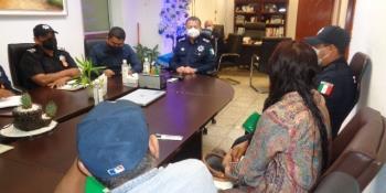 Se reúnen delegados municipales con Secretaría de Seguridad; solicitan mayor vigilancia