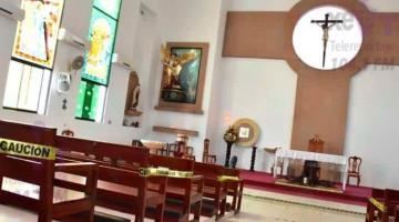 Reduce Diócesis de Tabasco horarios de cierre de iglesias para mitigar contagios de COVID