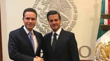 EPN envía condolencias a Manuel Velasco por el fallecimiento de su abuelo