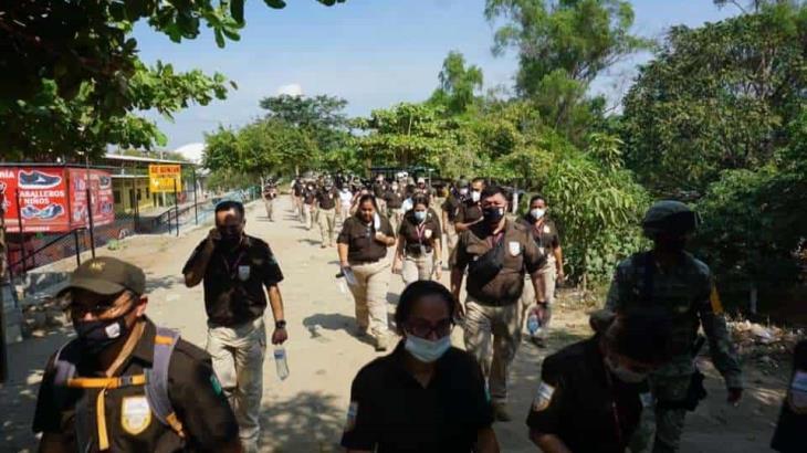 INM despliega 500 agentes en la frontera sur ante, la posible llegada de una caravana migrante