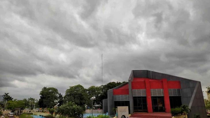 Pronostica Conagua para hoy posibilidad de chubascos ante presencia de sistema de alta presión en el Golfo