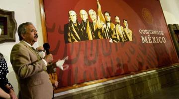 Asegura edil de Culiacán que no retirará mural oficial de gobierno donde aparece AMLO al lado de héroes nacionales