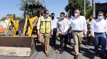 Ponen en marcha trabajos de mejoramiento de malecones de Villahermosa