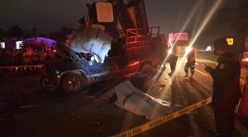 Accidente en la Cárdenas-Villahermosa deja como saldo un prensado