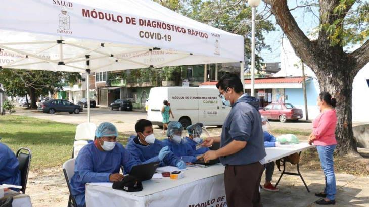 Disminuyen casos positivos y hospitalizaciones por covid-19 en Tabasco
