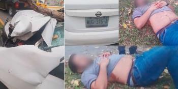 Joven choca contra árbol en Ruiz Cortines; sufre fracturas y lesiones internas