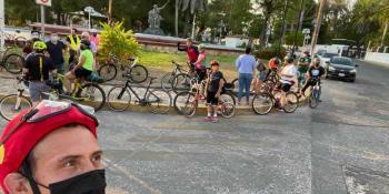 """4 asociaciones de ciclistas realizan el """"Rol Paseo Tabasco"""" para promover uso de la """"bici"""" y reactivar la economía"""